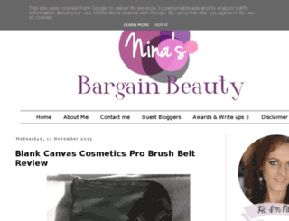 ninasbargainbeauty.blogspot.ie screenshot