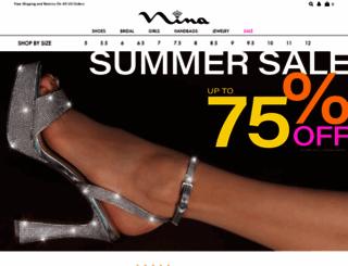 ninashoes.com screenshot