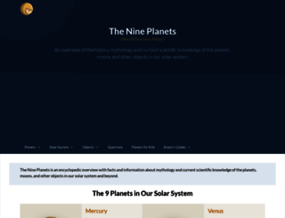 nineplanets.org screenshot