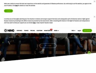 ning.com screenshot