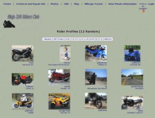 ninja250.org screenshot
