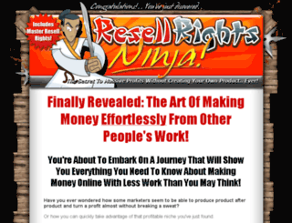 ninjaresalerights.com screenshot