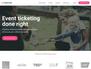 ninjaturtleslive.ticketleap.com screenshot