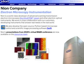 nion.com screenshot