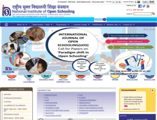nios.ac.in screenshot