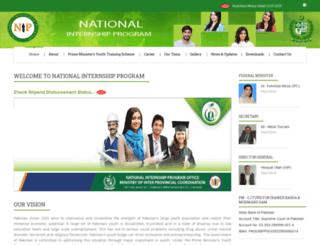 nip.gov.pk screenshot