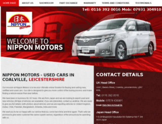 nipponmotors.awdealers.co.uk screenshot