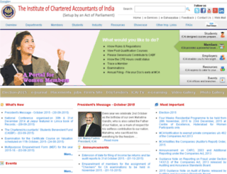 nirc.icai.org screenshot