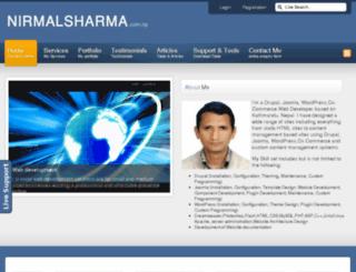 nirmalsharma.com.np screenshot