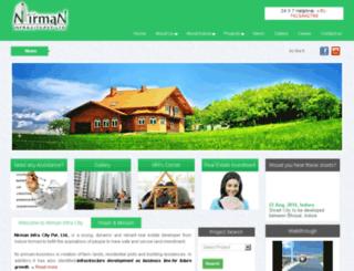 nirmaninfracity.com screenshot
