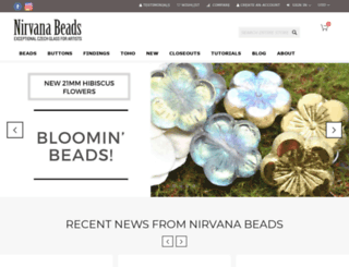 nirvanabeads.com screenshot