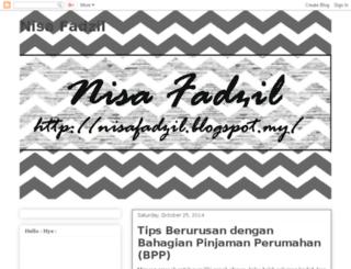 nisafadzil.blogspot.com screenshot