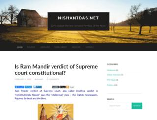 nishantdas.net screenshot