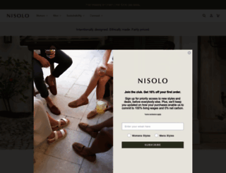 nisolo.com screenshot