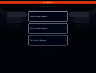 nisrecruitment.org.ng screenshot