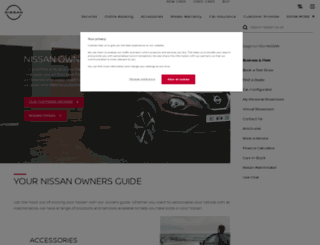 nissan-aftersales.co.uk screenshot