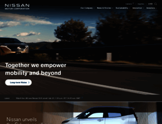 nissan-global.com screenshot