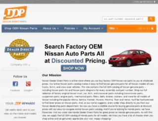 nissan.dealerdirectparts.com screenshot