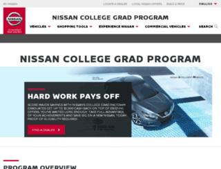 nissancollegegrad.com screenshot