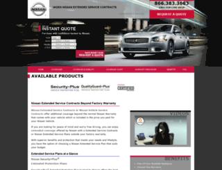 nissanextendedwarranty.com screenshot