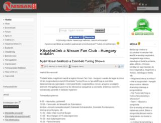 nissanfanclub.hu screenshot