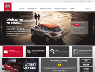 nissanfinance.com screenshot