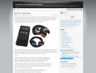 nissankeyprogramming.wordpress.com screenshot
