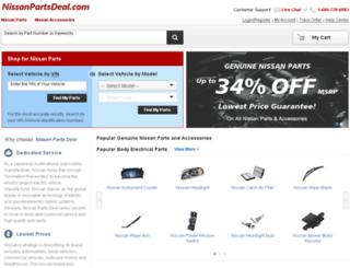 nissanpartszone.com screenshot