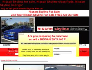 nissanskylinebroker.com screenshot