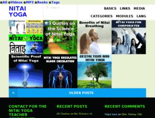 nitaiyoga.com screenshot