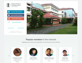 nitc.almaconnect.com screenshot