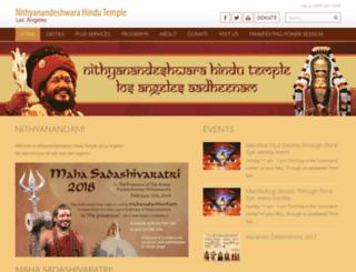 nithyanandavedictemple.org screenshot