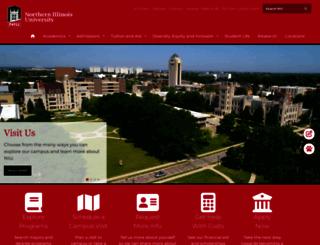 niu.edu screenshot