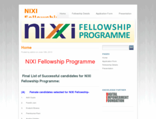nixifellowship.in screenshot