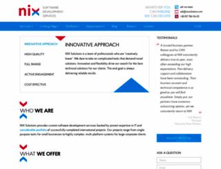 nixsolutions.com screenshot