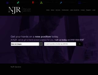 njrrecruitment.co.uk screenshot