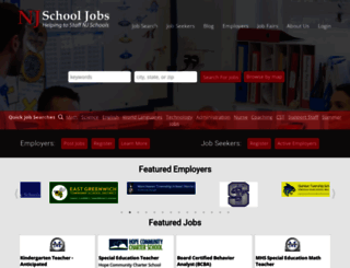 njschooljobs.com screenshot