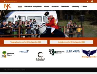 nkjachtpaarden.nl screenshot
