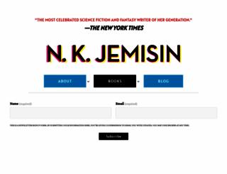 nkjemisin.com screenshot