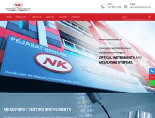 nkmeasuring.com screenshot