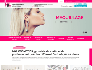 nl-cosmetics-grossiste-coiffure.fr screenshot