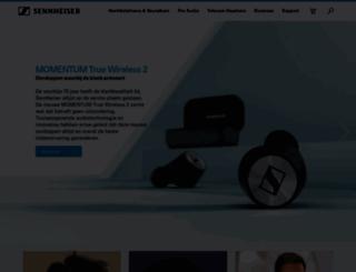 nl-nl.sennheiser.com screenshot