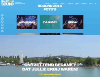 nl.balatonsound.com screenshot