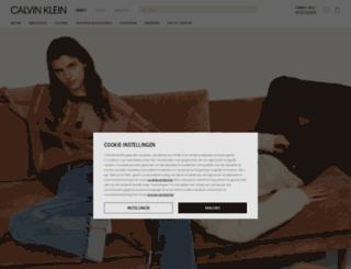 nl.calvinklein.com screenshot