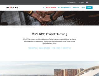 nl.mylaps.com screenshot