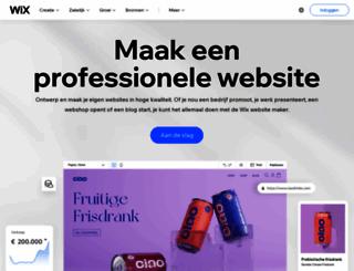 nl.wix.com screenshot