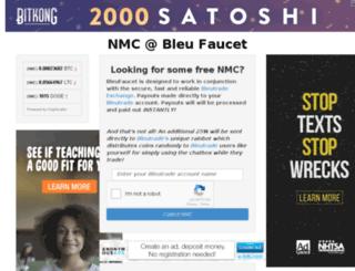nmc.bleufaucet.com screenshot