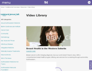 nmhospital.vidcaster.com screenshot