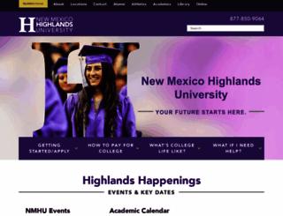 nmhu.edu screenshot