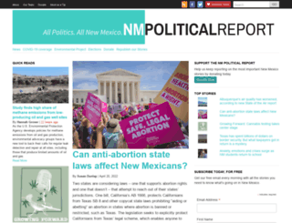 nmpoliticalreport.com screenshot